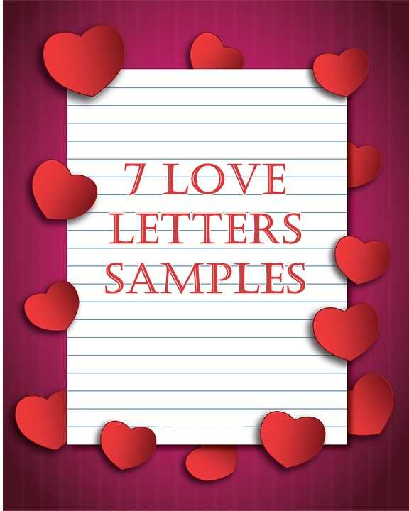 7 love letters samples