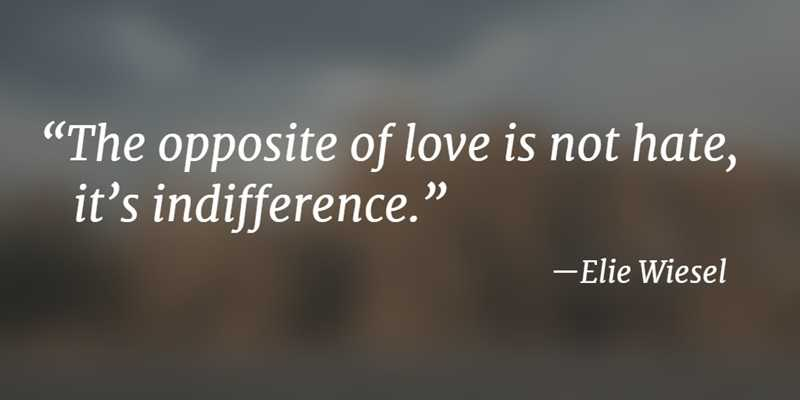 Quotes about Indifference