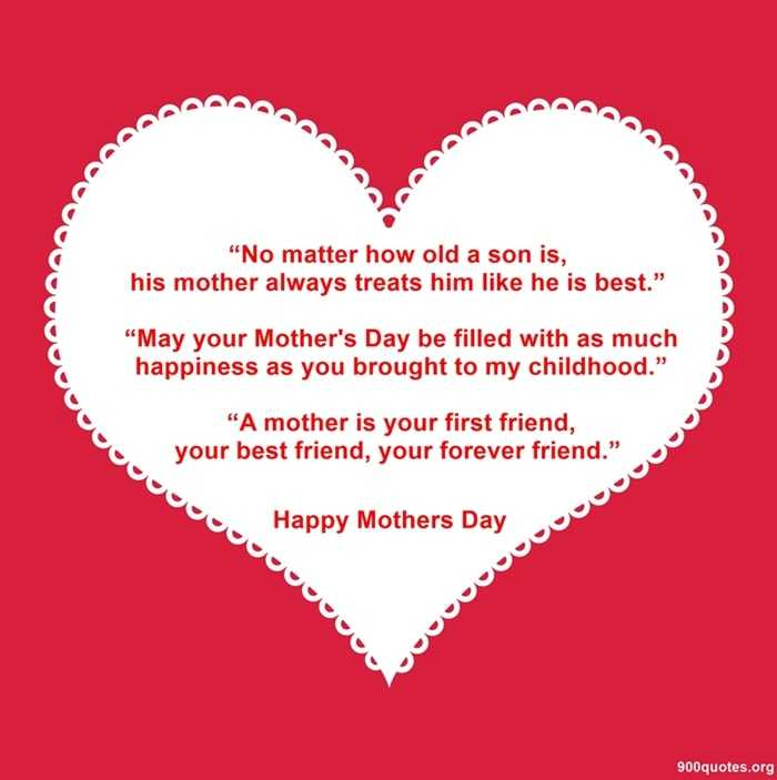 happy mother day quotes from son